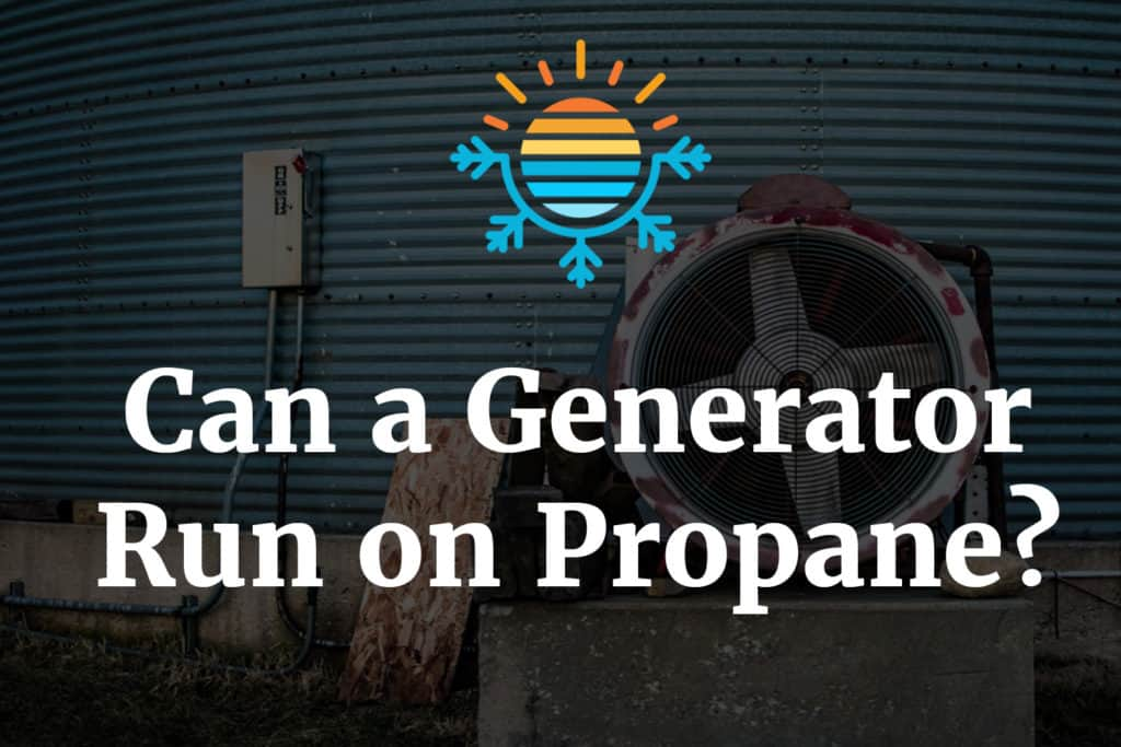 Can a generator run on propane
